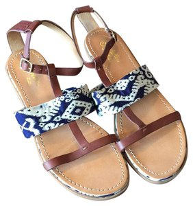 Seychelles Navy/Ivory/Brown Sandals