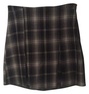 Brandy Melville Mini Skirt Black and white plaid