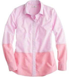 J.Crew Colorblock Button Down Shirt Pink