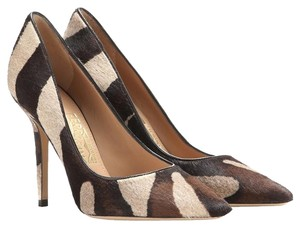 Salvatore Ferragamo Susi Animal Cacao Pony Hair Pumps