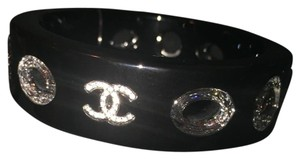 Chanel 16p Bracelet Black Crystal