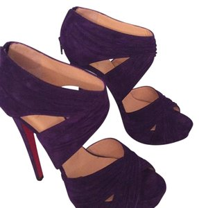 Christian Louboutin Purple Platforms