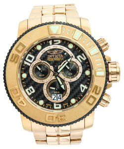Invicta Invicta Gold Tone 10764 XL Chronograph Date & Day Diver's Watch