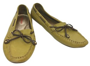 MARC JOSEPH Leather Loafer OLIVE GREEN Flats