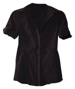 Ann Taylor Button Down Shirt Black