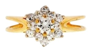 Ball of SPARKLE - 14k Gold and Diamond Cluster ring
