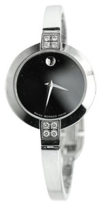 Movado Ladies Stainless Steel Museum DIAMOND Watch 84 A1 1830S