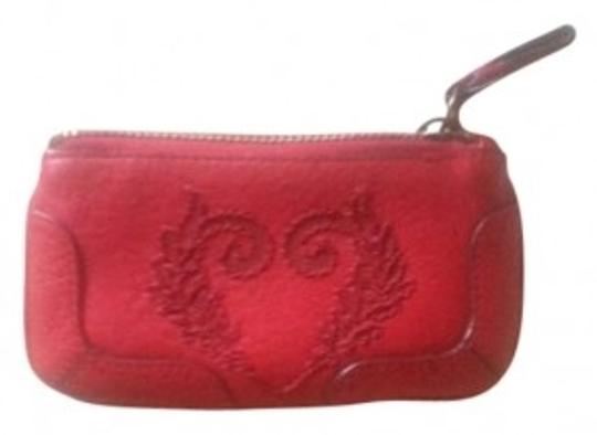 Cole Haan Red leather change purse