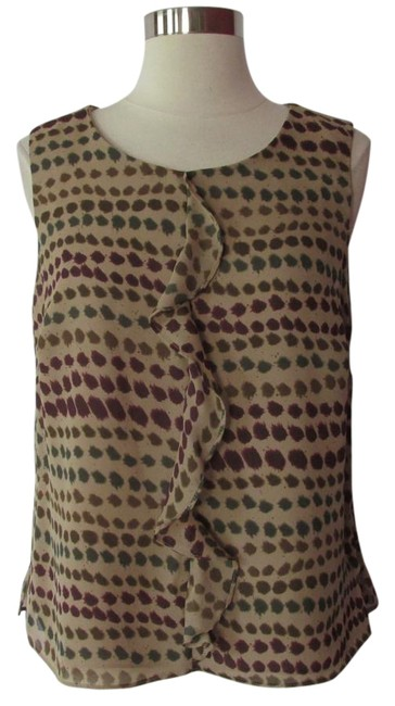 Item - Brown / Green Blouse Size 10 (M)