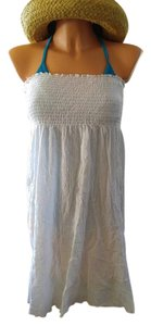 Be Creative New white cotton gauze tube swim dress cover-up sz L