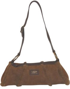 UGG Australia Refurbished Fur Sheep Suede Shoulder Bag