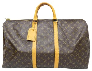 Louis Vuitton Lv Keepall 55 Travel Tote Monogram Travel Bag