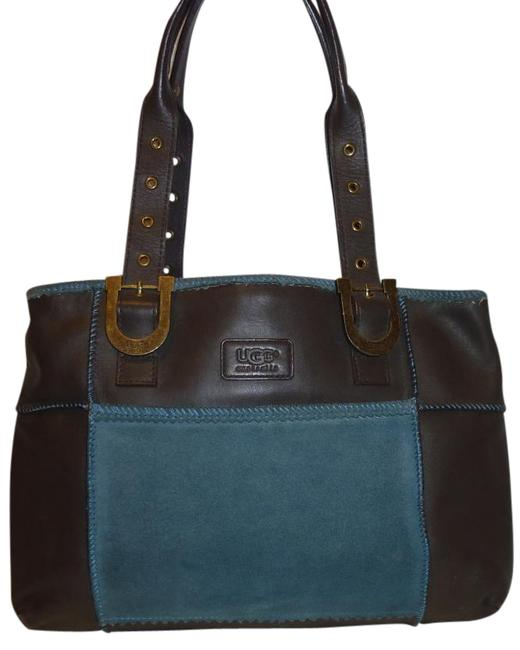 Item - Hobo Brown and Teal Green Sheep Skin Suede Shoulder Bag