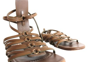 Saint Laurent Ysl Gladiator Olive Sandals