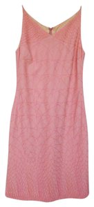 Tocca short dress Peach Shift Embroidered Linen on Tradesy