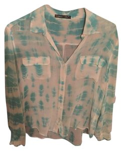 Gypsy05 Button Down Shirt Blue