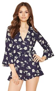 Forever 21 Romper Ruffle Flowy Dress
