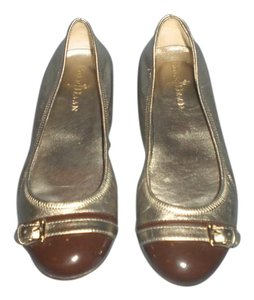Cole Haan gold/brown Flats