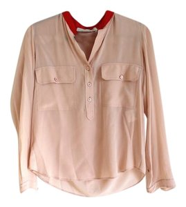 Stella McCartney Blouse Silk Button Down Shirt Pink