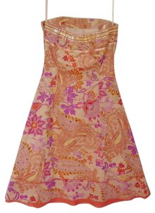 Express short dress Peach Cotton Bohemian Party Summer on Tradesy