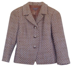 Ann Taylor Beige or camel with hints of light blue Blazer
