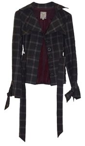 Nanette Lepore Grey and red plaid Blazer