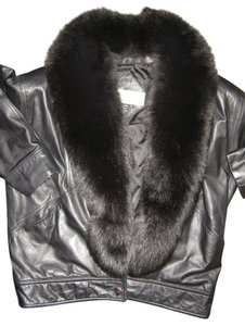 Design Assets Leather With Fur Fur Fox Fur Leather Jacket