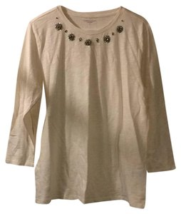 Laura Scott Top cream/silver