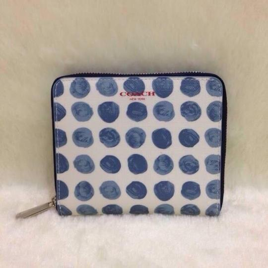 Coach Wristlet in White and Blue