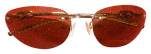 Gucci Gucci Gold Metal Frame Sunglasses with Lite Colored Lens