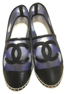 Chanel Blue and black Flats