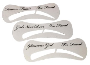 Too Faced Set Of 3 EYEBROW STENCILS New