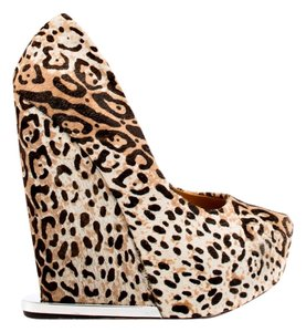 L.A.M.B. Wedge Cheetah print pony hair Wedges