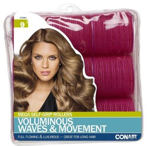 Conair Mega Hair Rollers Voluminous Waves & Movement 9 rollers 61505N NEW