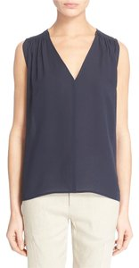 Vince Silk Lightweight Navy Fashion Top Blue