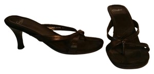 Candie's Leather BLACK Sandals