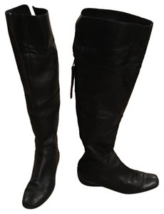 Nine West Over The Knee Flat Black Boots