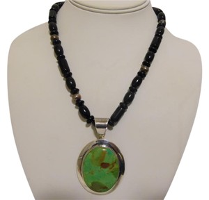 Mine Finds by Jay King Jay King Green Turquoise Pendant w/Beaded Gemstone Necklace