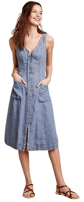 Item - Denim XS New with Tag Atoll By Holding Horses Long Short Casual Dress Size 0 (XS)