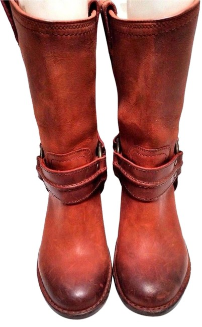 """Item - Burnt Red """"Harness"""" Boots/Booties Size US 6 Regular (M, B)"""