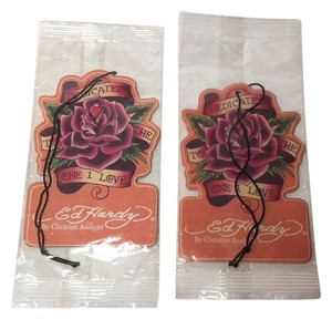 Ed Hardy Set of 2 ED HARDY by Christian Audigier AIR FRESHENERS NEW