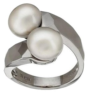 Honora Honora Cultured Pearl 9.0mm Sterling Silver Bypass Ring - Size 5