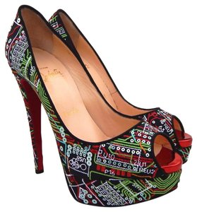 Christian Louboutin Black / Multicolor Pumps