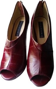 Steven by Steve Madden Sexy Comfortable Pumps Textured Burgundy, wine red Boots