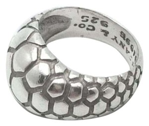 Tiffany & Co. size 5.75, sterling silver, snakeskin, dome, unisex ring