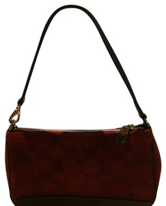 Coach Wristlet in Burgundy