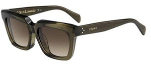 Céline Celine CL 41034 Olive Green Square Wayfarer Brown Lens