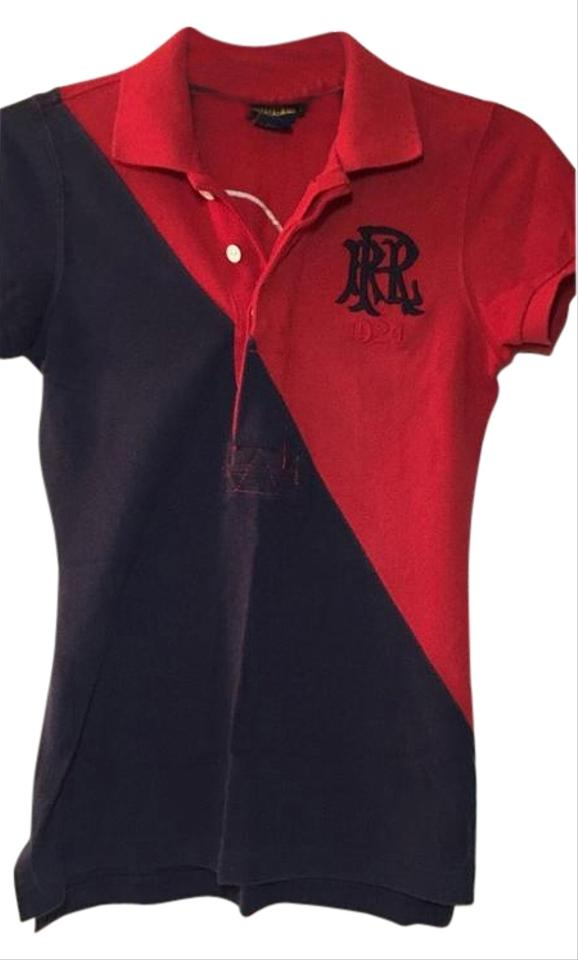 Rugby Ralph Lauren Red and Blue By Polo  12 Patched Women s Xsmall ... 6bc95a66f