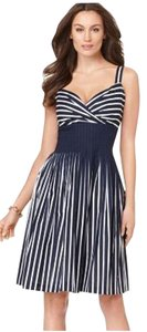 Evan Picone short dress Navy Blue/White on Tradesy