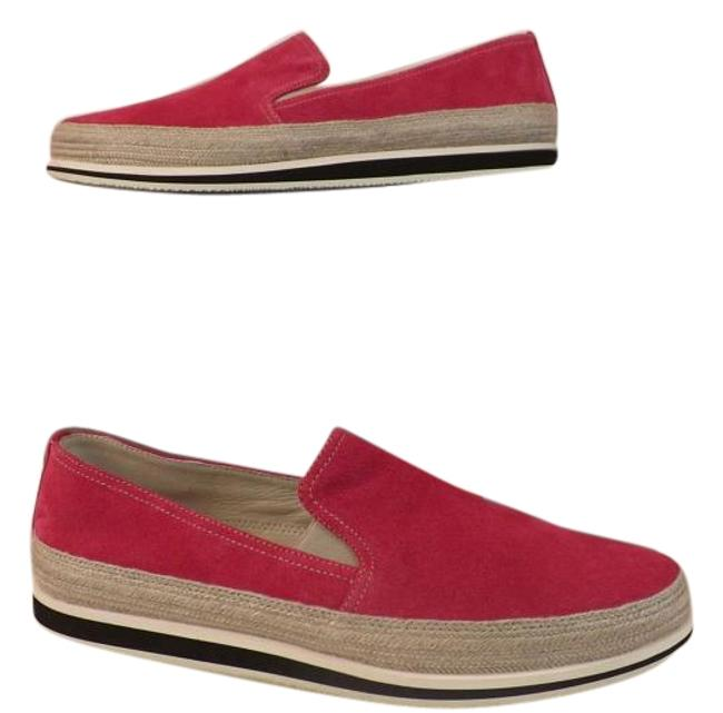 Item - Red 3s5685 Bright Pink Suede Espadrille Slip On Sneakers Size EU 40 (Approx. US 10) Regular (M, B)